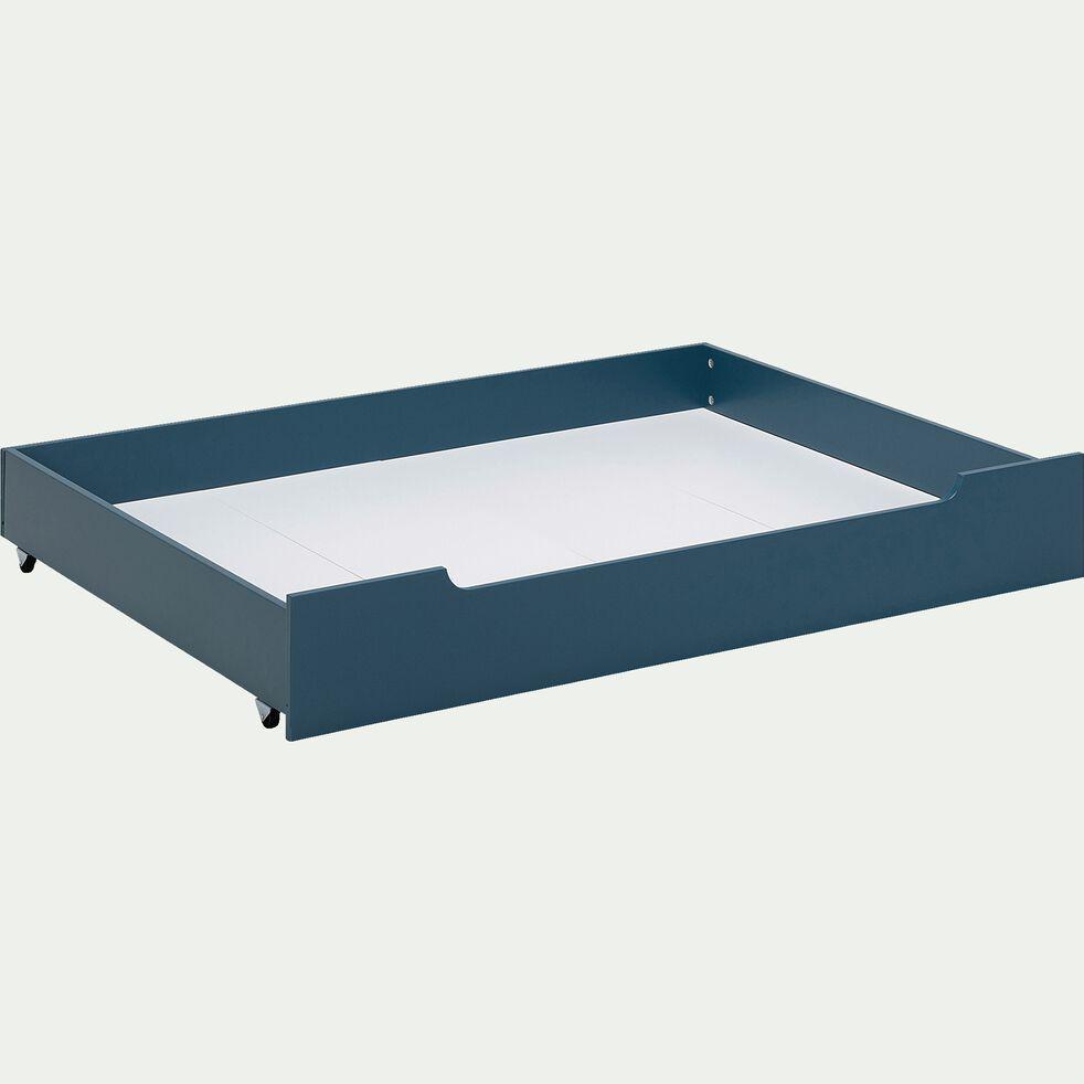 Tiroir de lit en bois - bleu figuerolles-POLLUX