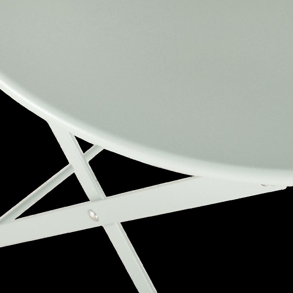 Table de jardin enfant d50xh48cm Vert olivier-CERVIONE