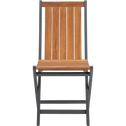 Chaise de jardin pliante en acacia gris-LAVANDOU