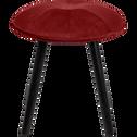 Tabouret en velours rouge sumac - H45cm-AUGUSTIN