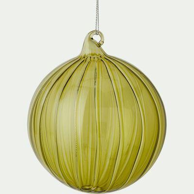 Boule de Noël en verre vert D10cm-BAKAL