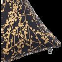 Coussin bleu calabrun à motifs dorés 30x50cm-GINKO
