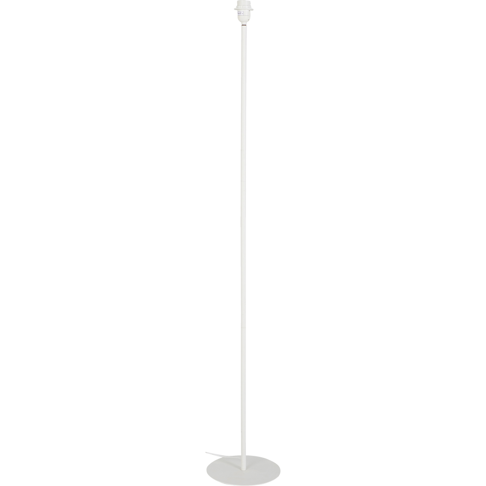Pied de lampadaire en métal blanc H141cm-OLIVIO