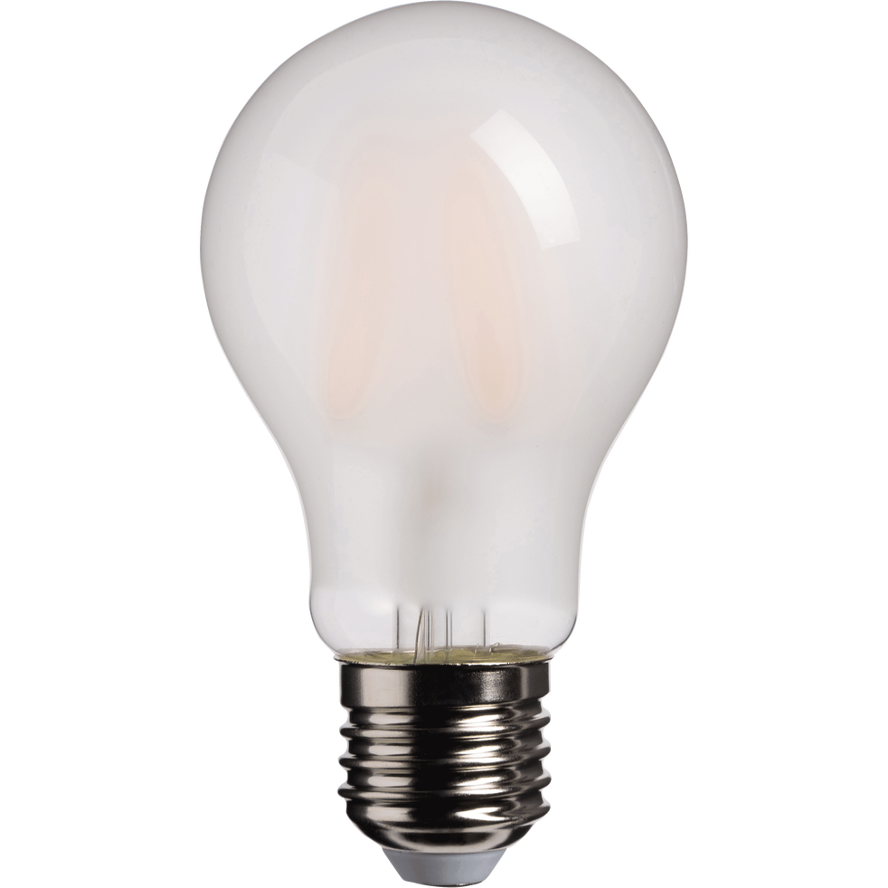 Ampoule LED verre dépoli blanc chaud D6cm culot E27-STANDARD