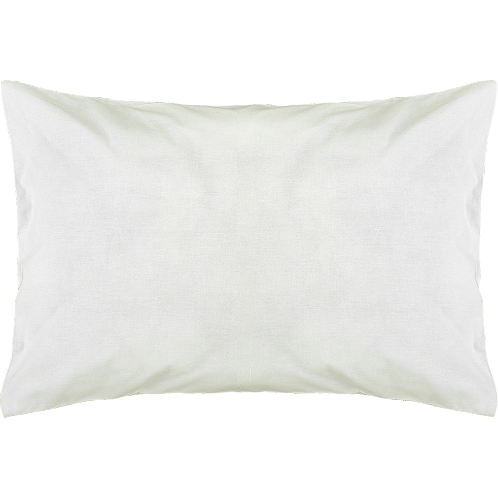 taie d'oreiller en coton lavé blanc 45x65cm-CALANQUES