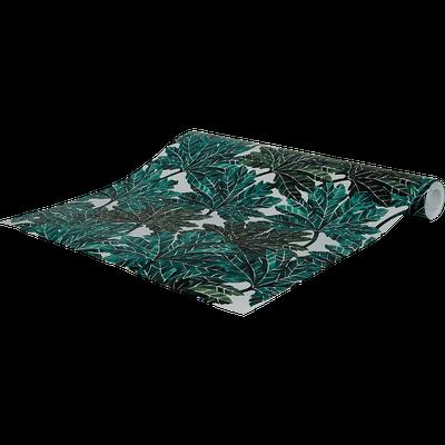 Papier peint intissé motif feuillage vert 53cm x 10m-CORINTHE