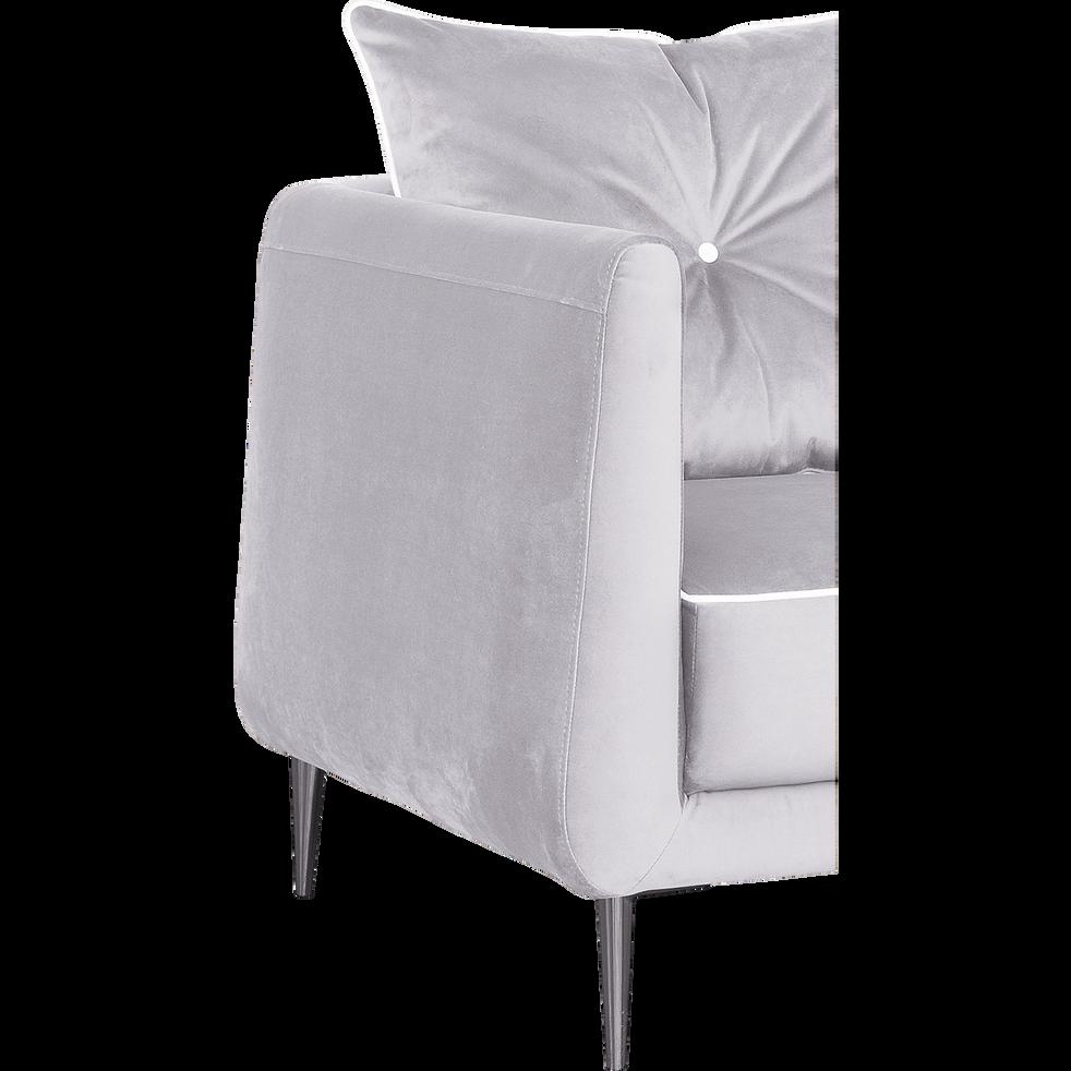 Canapé d'angle fixe droit en tissu gris borie-ASTELLO