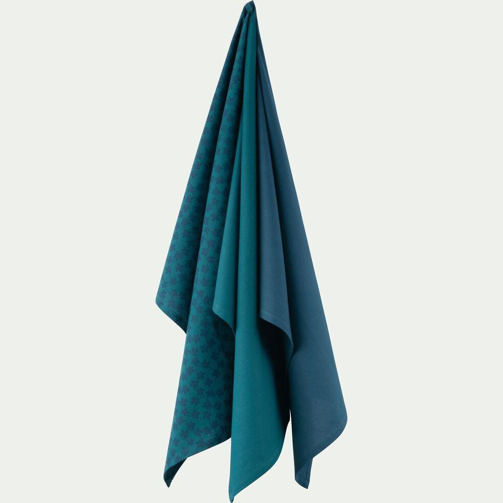 Lot de 3 torchons en coton bleu-FIGUIER