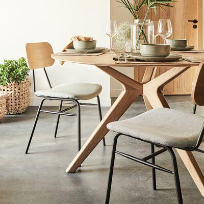 Table de repas ronde en bois massif - 4 convives-CARMEN