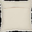 Coussin en coton naturel brodé 40x40cm-DAKILA