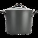 Faitout anti-adhésif gris D24cm (tous feux dont induction)-ESCAL