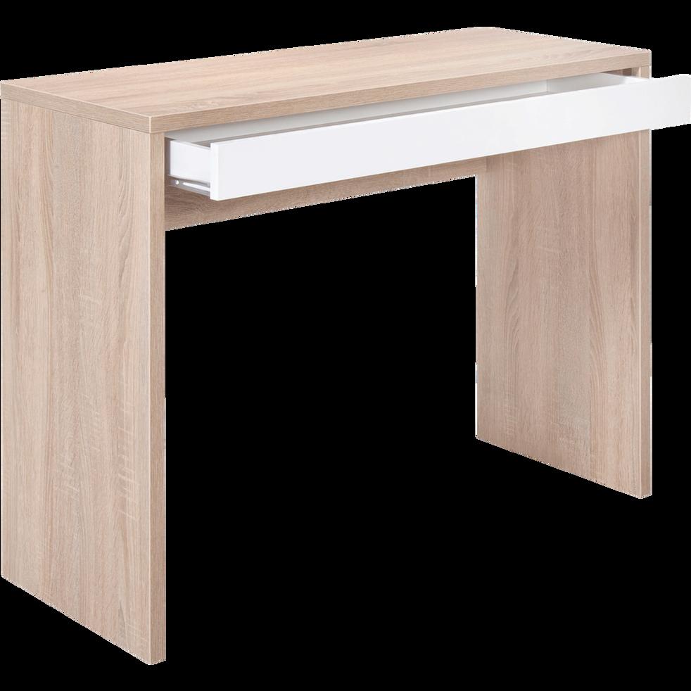 console effet bois avec tiroir blanc checker consoles alinea. Black Bedroom Furniture Sets. Home Design Ideas