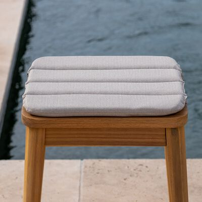 Galette de chaise indoor & outdoor en tissu déperlant - beige alpilles-KIKO
