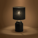 Lampe à poser en céramique noir H29cm-RODRIG