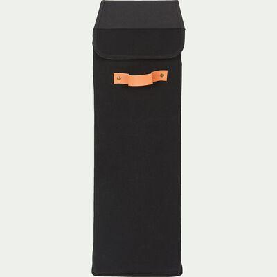 Panier à linge en polycoton - noir H60xL38cm-ERRO