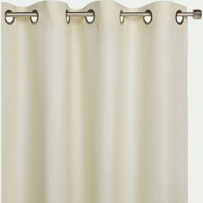 Rideau à œillets en lin - beige roucas 140x300cm-VALLON