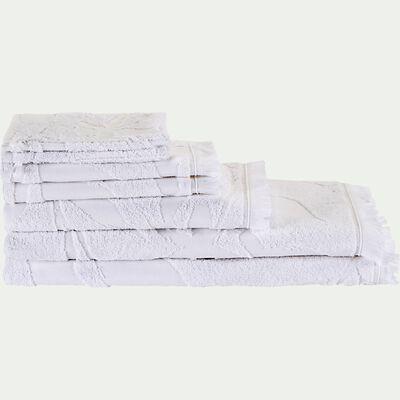 Lot de 2 serviettes invité en coton - blanc 30x50cm-Ryad