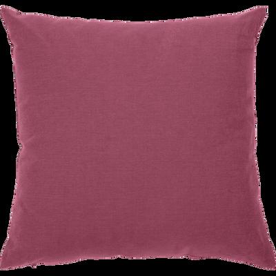 Coussin en coton rouge arbouse 40x40cm-CALANQUES