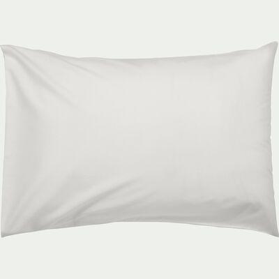 Lot de 2 taies d'oreiller en coton - blanc capelan 50x70cm-CALANQUES