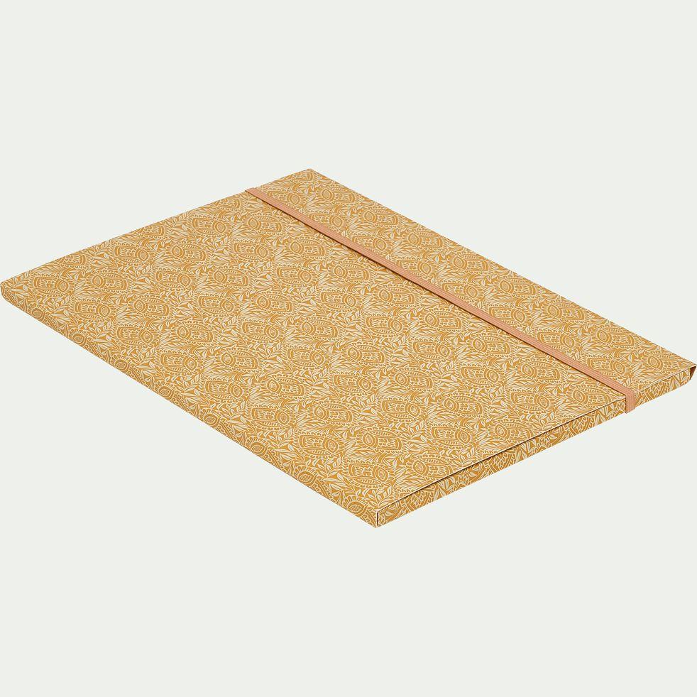 Pochette à rabat motifs 32x23cm-AMANDE