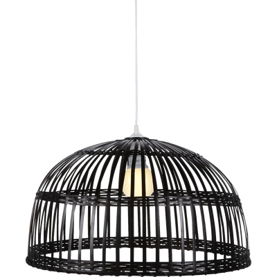Suspension en bambou tressé marron D60cm-PHUKET