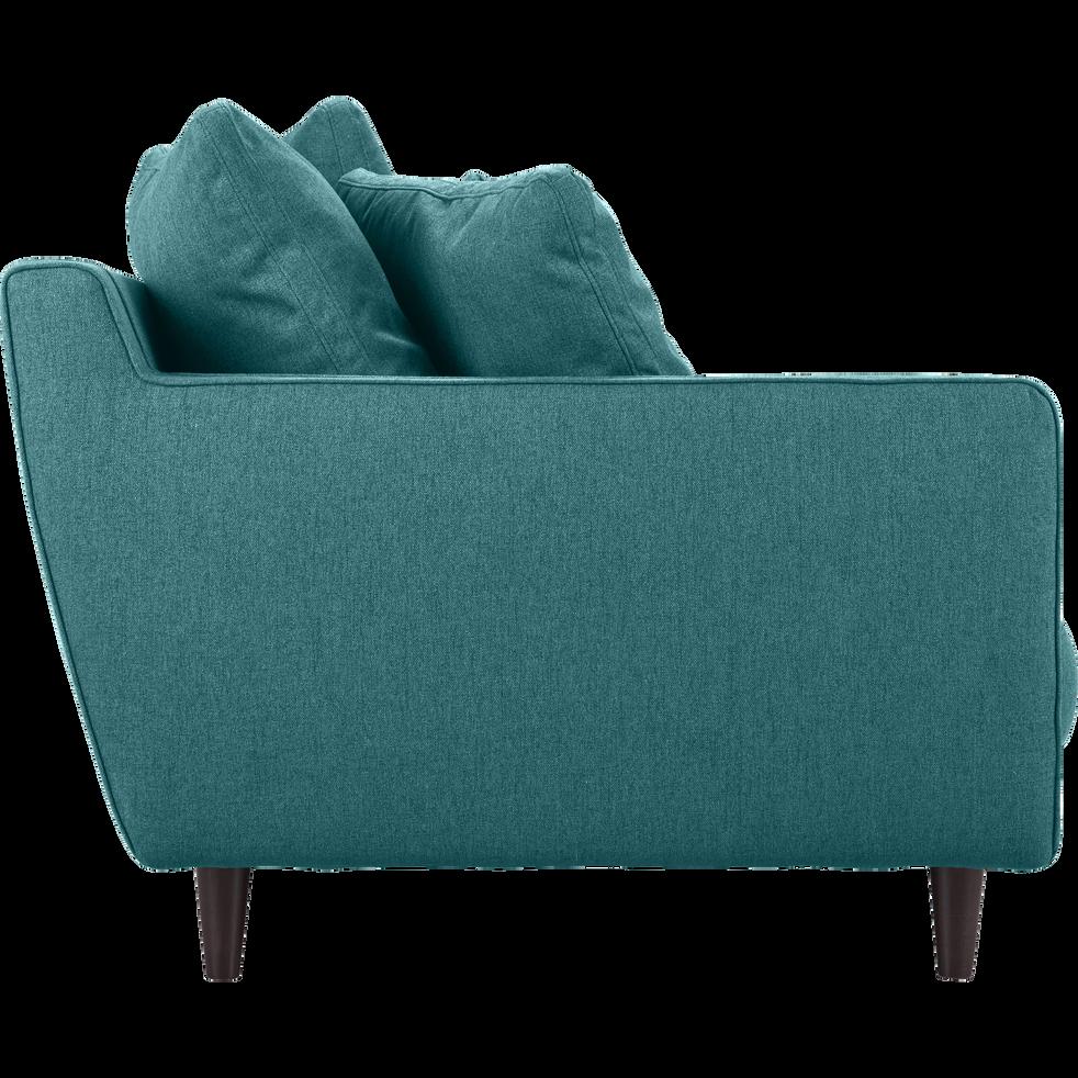 Canapé 6 places fixe en tissu bleu niolon-LENITA