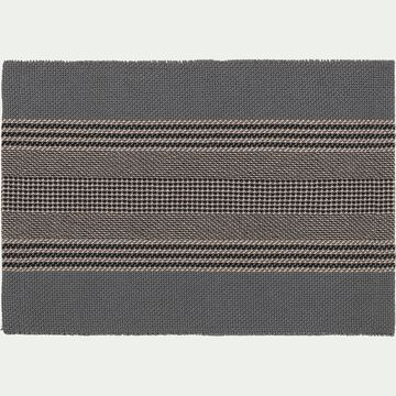 Set de table en polyester gris 30x45cm-CADET