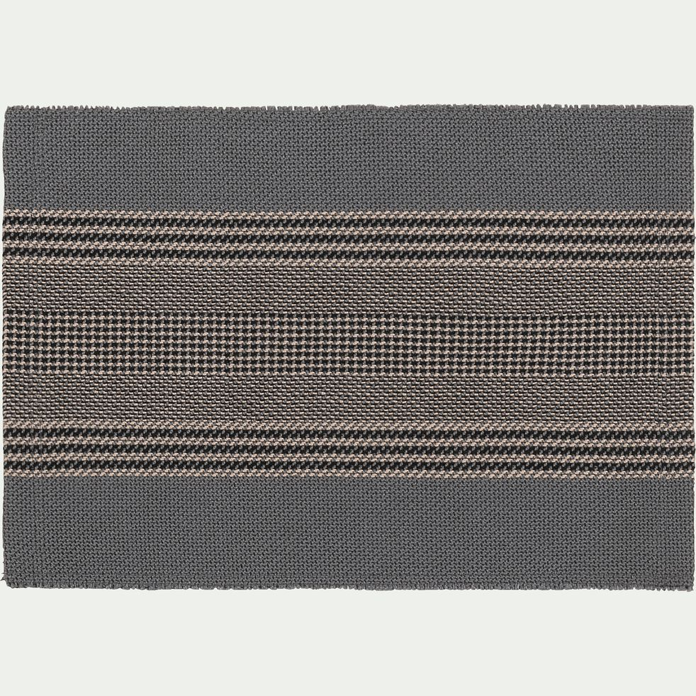 Set De Table En Polyester Gris 30x45cm Cadet Set De Table Alinea