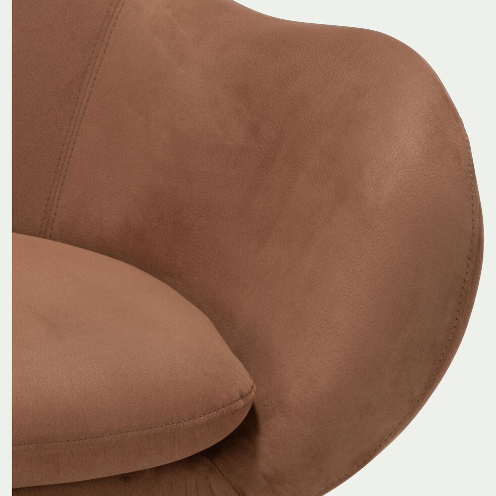Fauteuil de salon en tissu dossier haut - brun albe-MARAGE