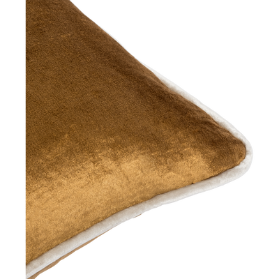 Coussin en velours camel 45x45cm-IMPERIA