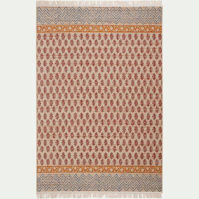Tapis aux inspirations indiennes - orange 120x170cm-JAIPUR