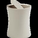 Poubelle plastique beige H25.2cm-SLUP