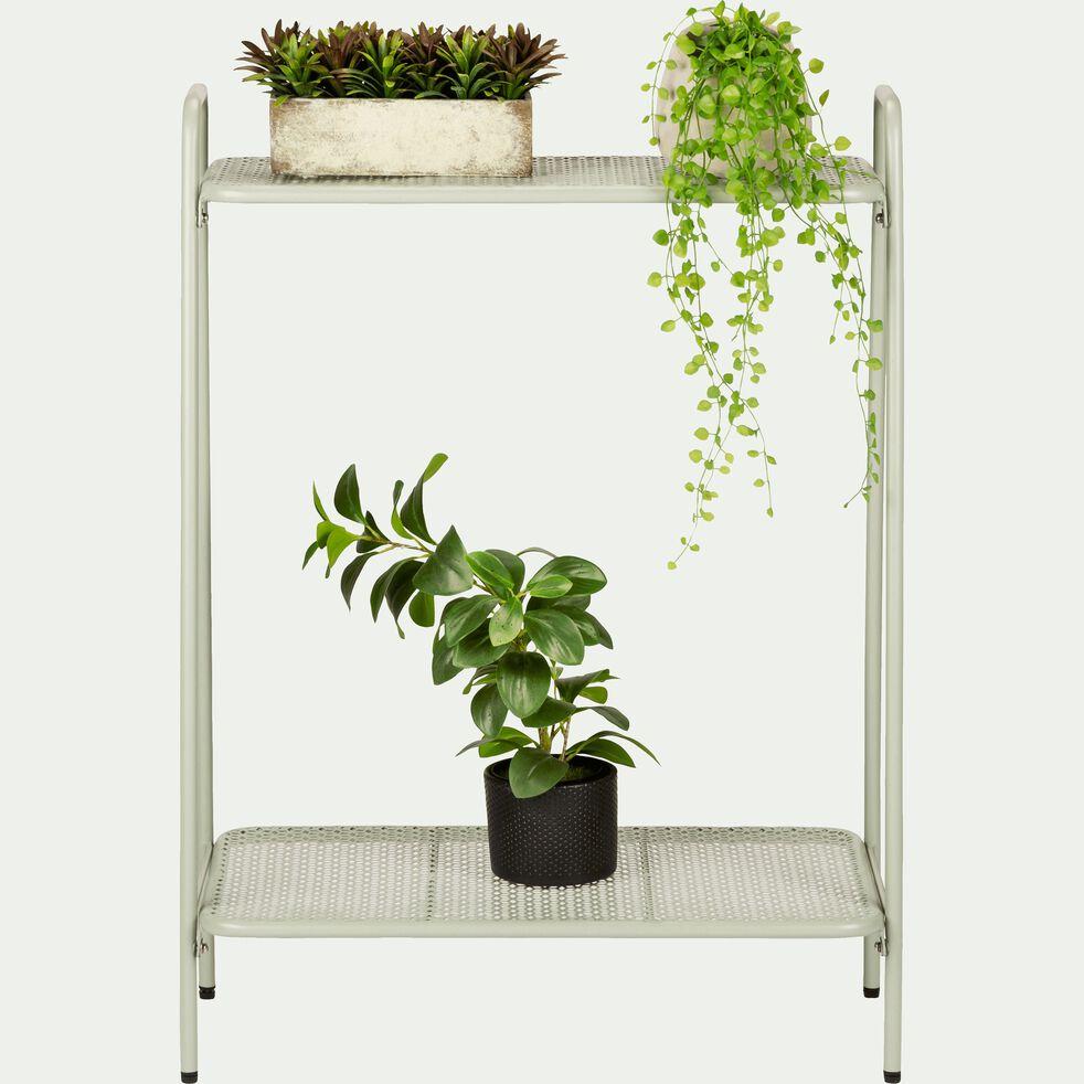 Support plante en acier vert olivier L61xH88x34cm-ERBA