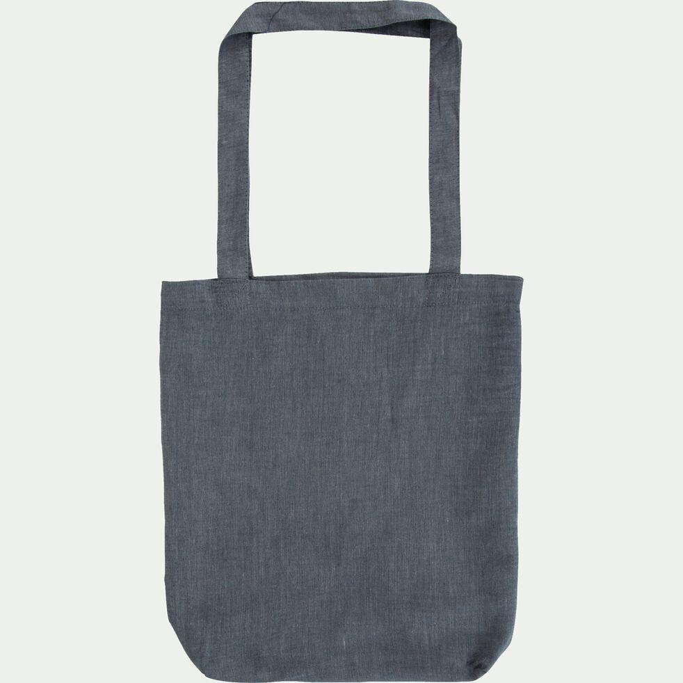 Housse de couette en coton chambray Gris anthracite - 240x220 cm-FRIOUL