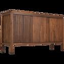 Meuble sous vasque cabinet 3 portes en acacia-LOUVANS