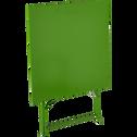 Table de jardin pliante vert L70cm (2 places)-PIMS