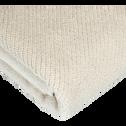 Serviette invité beige roucas 30x50cm-COLINE
