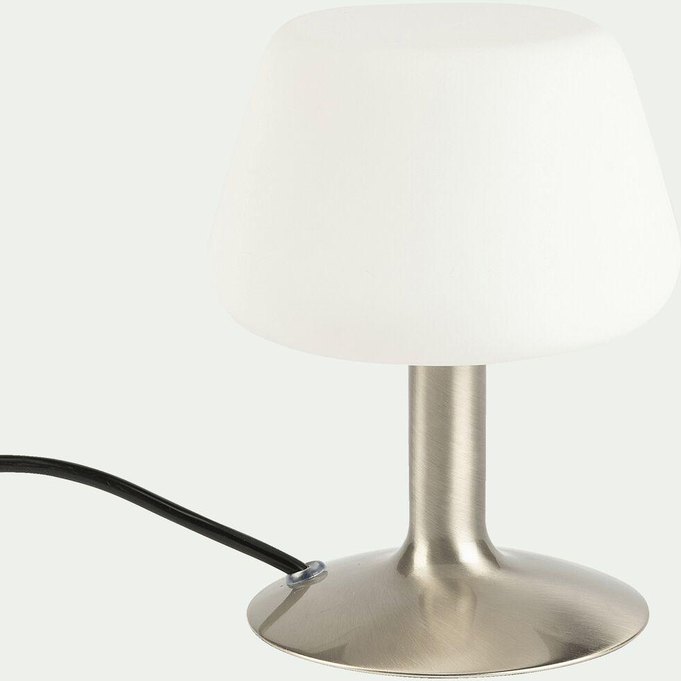 Lampe à poser tactile en métal H20cm - argenté-CARELET