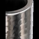 Photophore en fer argenté D10xH38cm-BIHAM