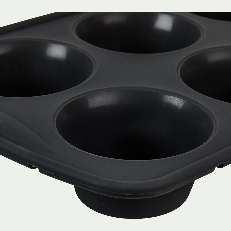 Plaque à muffins x6 en silicone gris-IRAU