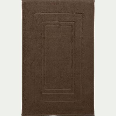 Tapis de bain en coton 50x80cm brun châtaignier-AZUR