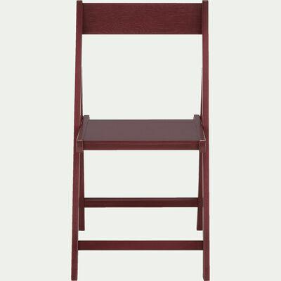 Chaise pliante en bois plaqué rouge sumac-JULIA