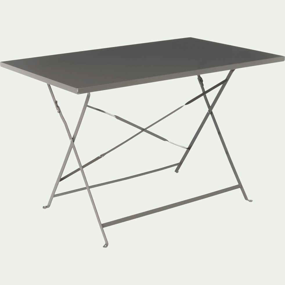 Table de jardin pliante taupe L110cm (2 à 4 places)-CERVIONE