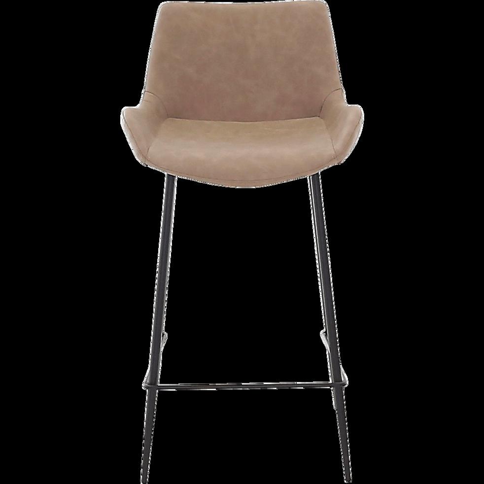 Gedeon Chaise De Bar En Simili Beige H66cm