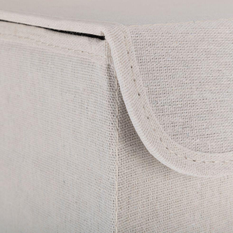 Panier à linge en polycoton - blanc H60xL30cm-ERRO