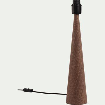 Lampe à poser en bois foncé- chêne H51,5cm-KONE