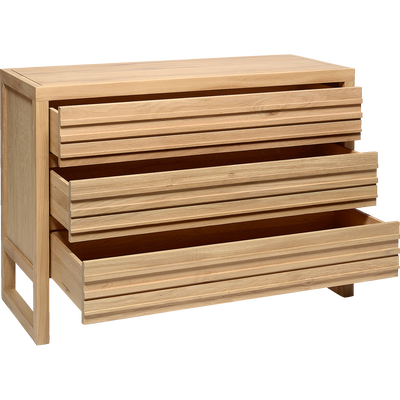 Commode 3 tiroirs en chêne massif-EMOTION