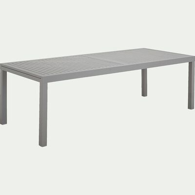 Ensemble table (10 à 12 places) et chaise de jardin en aluminium