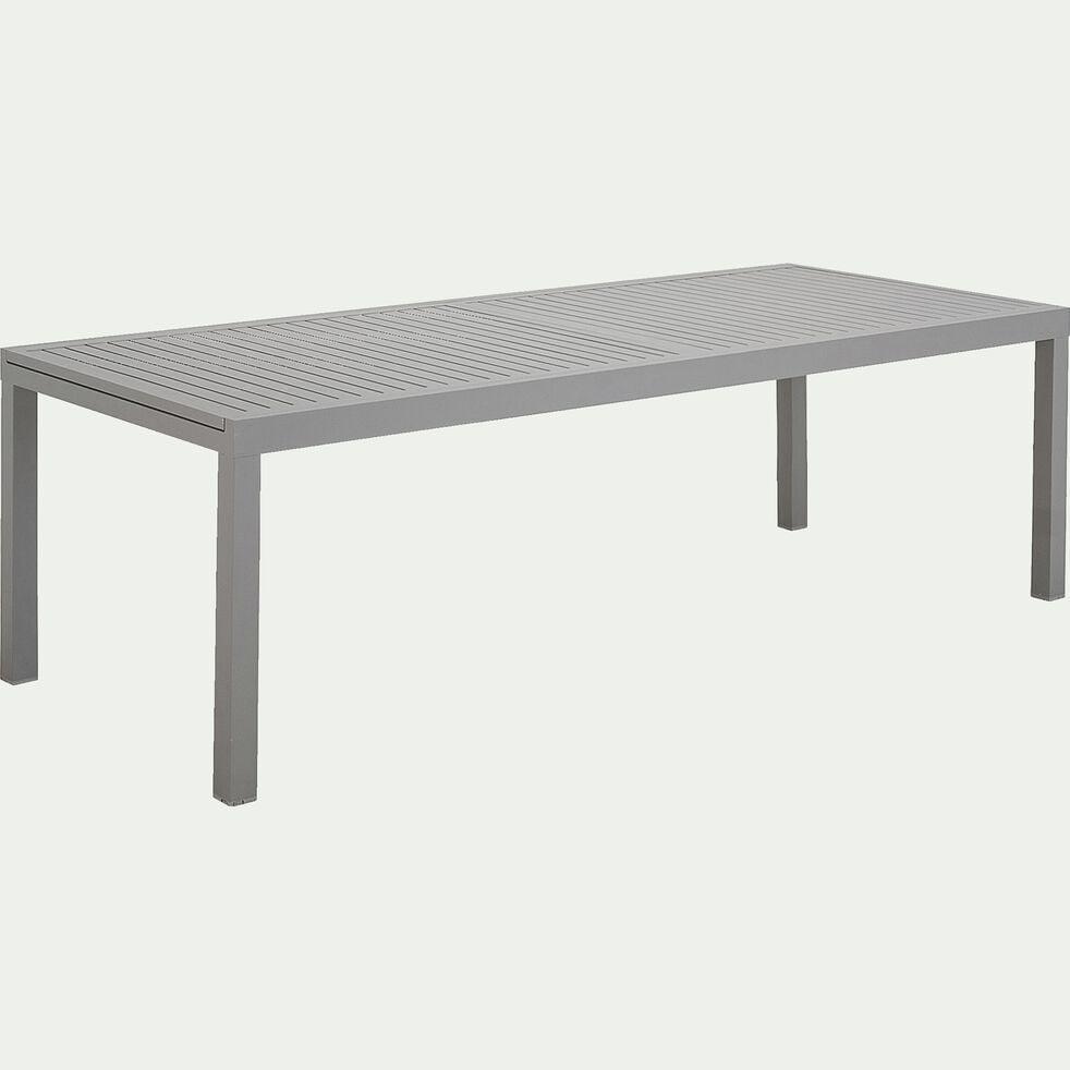 Ensemble table (10 à 12 places) et chaise de jardin en aluminium