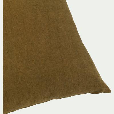 Coussin en lin - vert 45x45cm-PRENDRE RACINE